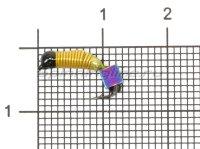 Мормышка Ручейник №3 d1.5 кубик хамелеон, желтый