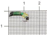 Мормышка Ручейник №3 d1.5 кубик хамелеон, зеленый
