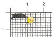 Мормышка Гвоздешарик d2 многогранный желтый кр.kumho