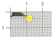 Мормышка Гвоздешарик d1.5 многогранный желтый кр.kumho