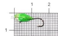 Мормышка LumiCom Капля с ушком d4 обмазка с камнем зеленая