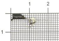 Мормышка Гвоздешарик d.2.5 никель кр.kumho