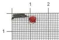 Мормышка Гвоздешарик d1.5 многогранный красный кр.kumho