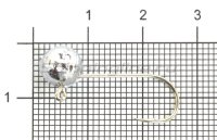 Микро-Джиг шар Fish Gold 2,5гр кр.Gamakatsu №4