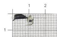 Мормышка Гвоздешарик d2.5 многогранное серебро кр.kumho