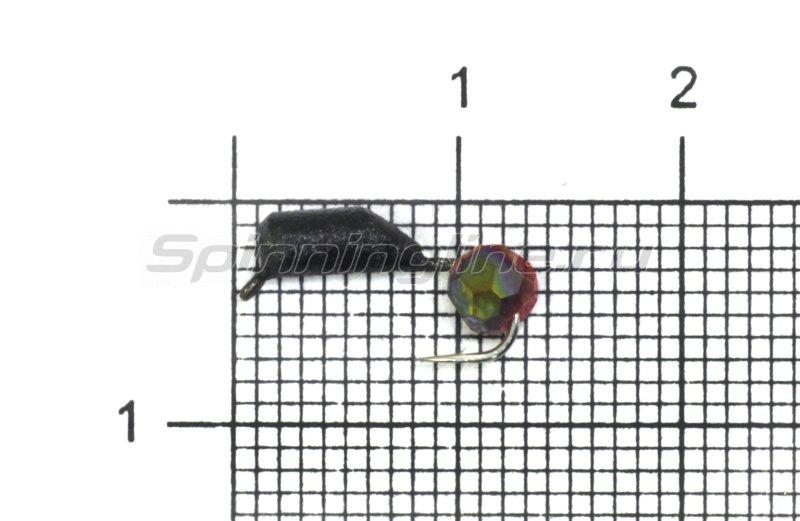 Мормышка True Weight Гвоздешарик d2.5 многогранный красный кр.hayabusa -  1
