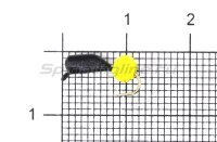 Мормышка True Weight Гвоздешарик d2.5 многогранный желтый кр.hayabusa