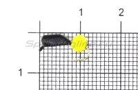 Мормышка Гвоздешарик d2.5 многогранный желтый кр.kumho