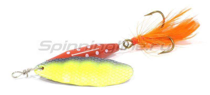 Abu Garcia - Блесна Reflex Red 12гр Fl/Yellow - фотография 1