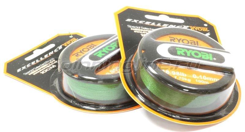 Шнур PE 4 Excia Green 100м 0,26мм -  3