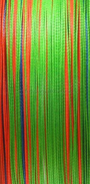 Шнур PE 8 Excia Multicolor 100м 0,12мм -  2