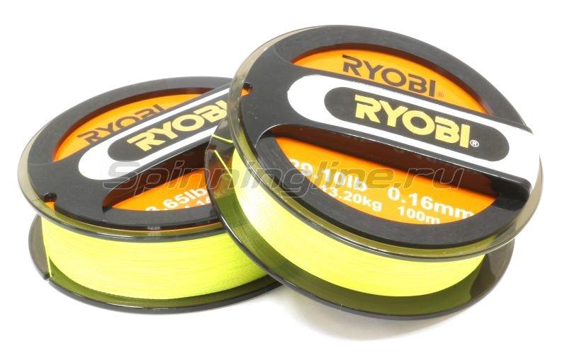 Шнур PE 4 Excia Yellow 100м 0,16мм -  1