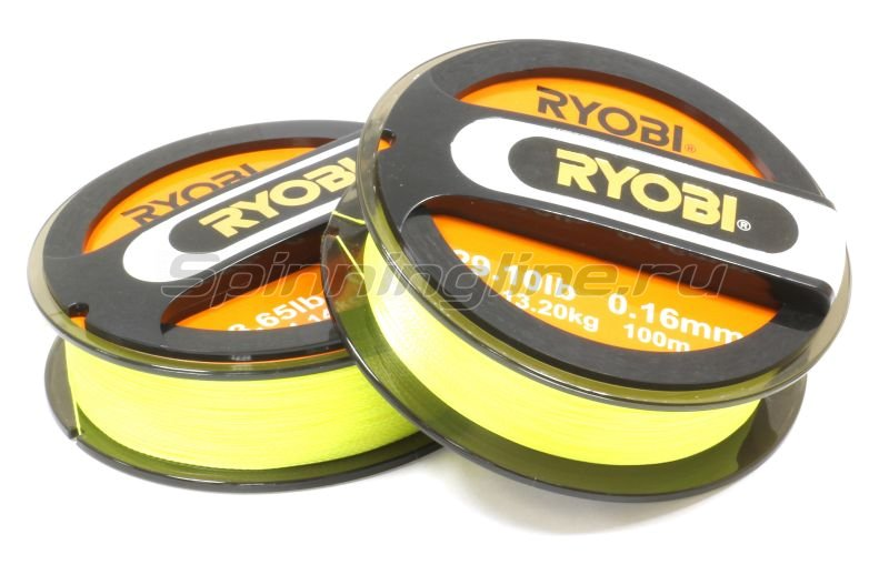 Шнур Ryobi PE 4 Excia Yellow 100м 0,35мм -  1
