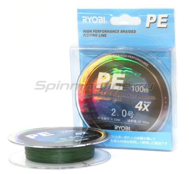 Шнур Ryobi PE 4 Zauber Green 100м 0,12мм -  3