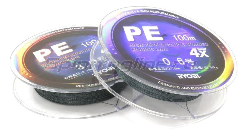 Шнур PE 4 Zauber Grey 100м 0,30мм -  1