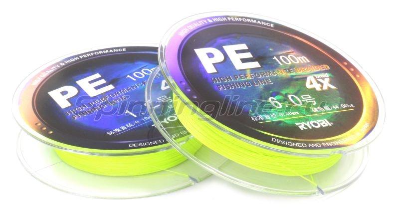 Шнур Ryobi PE 4 Zauber Yellow 100м 0,23мм -  1