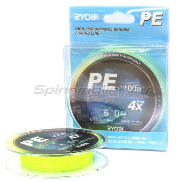 Шнур Ryobi PE 4 Zauber Yellow 100м 0,23мм -  3