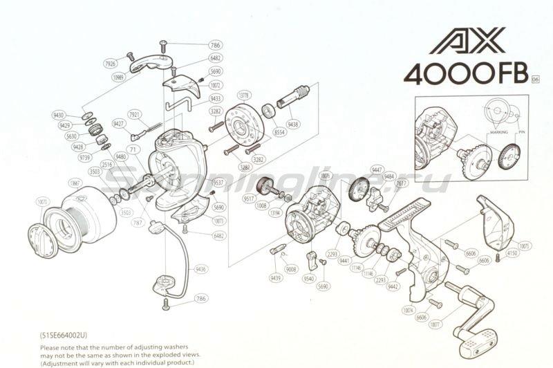 Катушка AX 4000 FB -  7