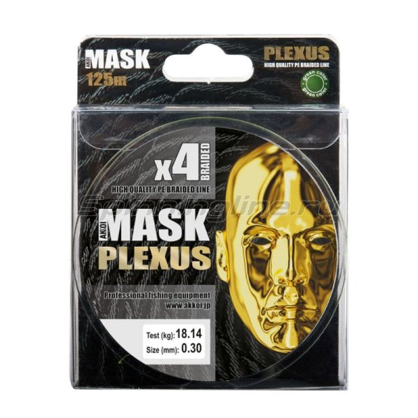Шнур Akkoi Mask Plexus 125м 0,24мм green -  5