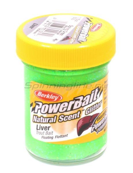 Паста Natural scent TroutBait Liver Spring Green (печень) -  1