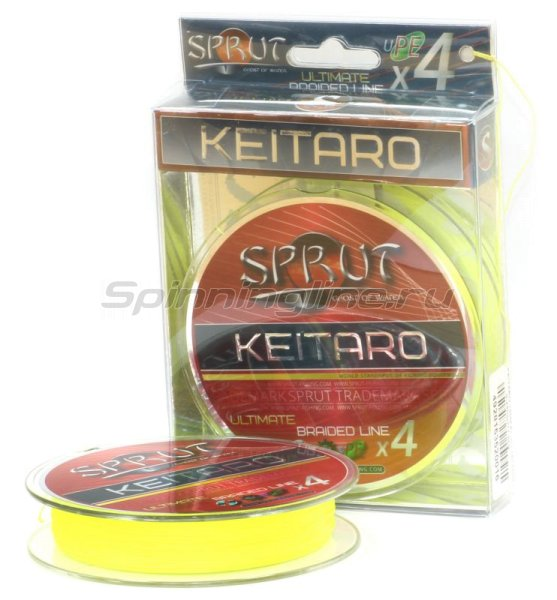 Шнур Keitaro Ultimate Braided Line x4 140м 0,14мм Fluo Yellow -  1