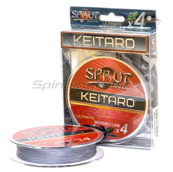 Шнур Sprut Keitaro Ultimate Braided Line x4 140м 0,12мм Space Gray -  1