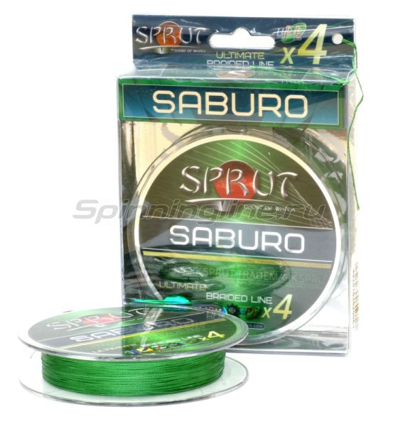 Шнур Saburo Soft Ultimate Braided Line x4 95м 0,14мм Dark Green -  1