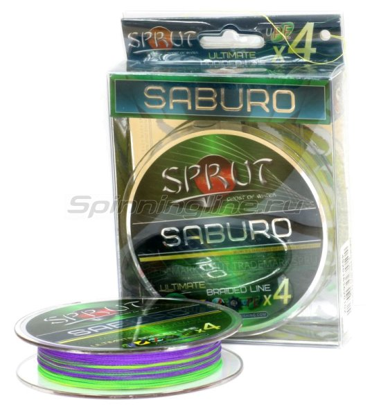 Шнур Sprut Saburo Soft Ultimate Braided Line x4 95м 0,32мм Multicolor -  1