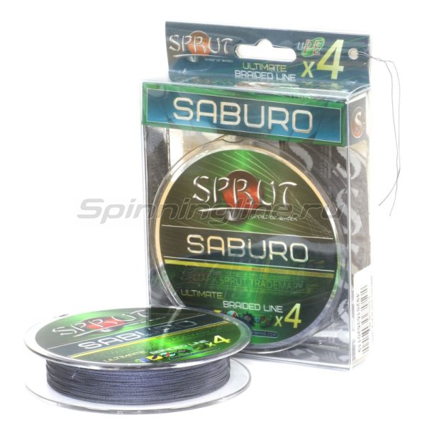 Шнур Sprut Saburo Soft Ultimate Braided Line x4 95м 0,23мм Space Gray -  1