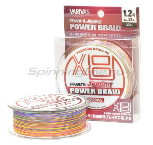 Шнур Varivas Avani Jigging Power Braid PEx8 200м 1.5 -  1