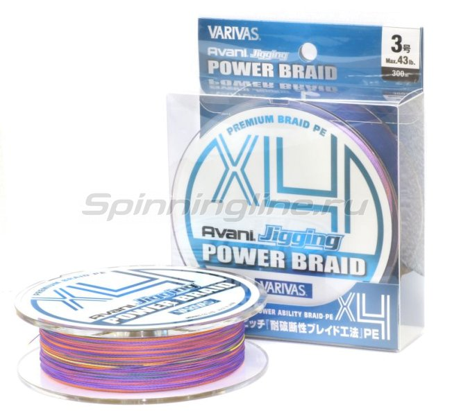Шнур Varivas Avani Jigging Power Braid PEx4 300м 1.2 -  1