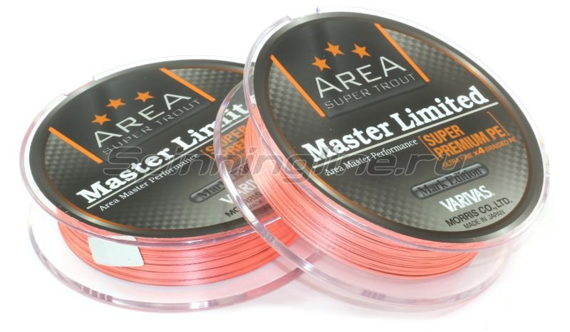 Шнур Area Super Trout Master Limited Super Premium PE 75м 0.2 orange -  2