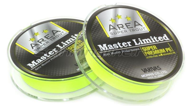 Шнур Area Super Trout Master Limited Super Premium PE 75м 0.15 yellow -  2