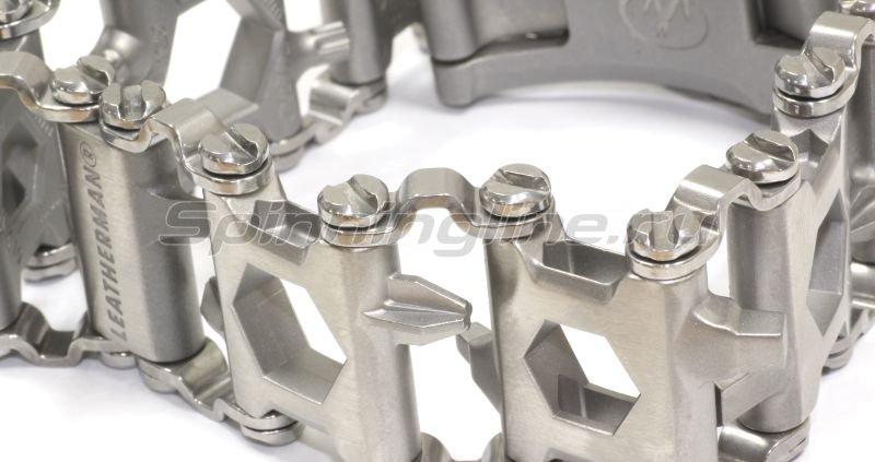 Многофункциональный браслет Leatherman TREAD Metric серебристый -  2