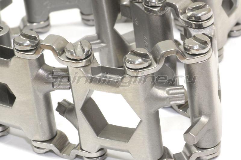 Многофункциональный браслет Leatherman TREAD Metric серебристый -  3