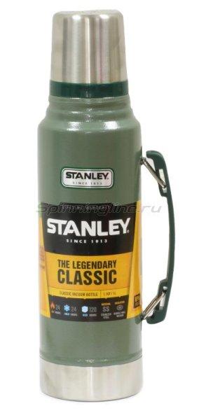 Термос Stanley Legendary Classic 1л. темно-зеленый/серебристый -  1