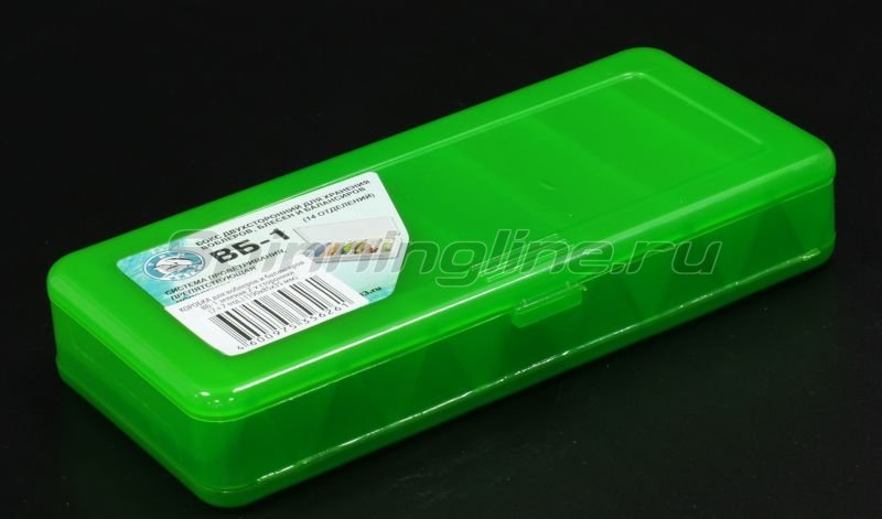 Коробка Три Кита для воблеров и балансиров ВБ-1 зеленая -  1