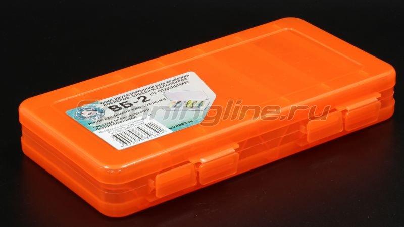 Коробка Три Кита для воблеров и балансиров ВБ-2 красная -  1