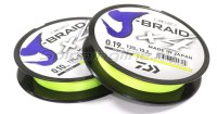 Шнур Daiwa J-Braid X4 135м 0,10мм fluo yellow