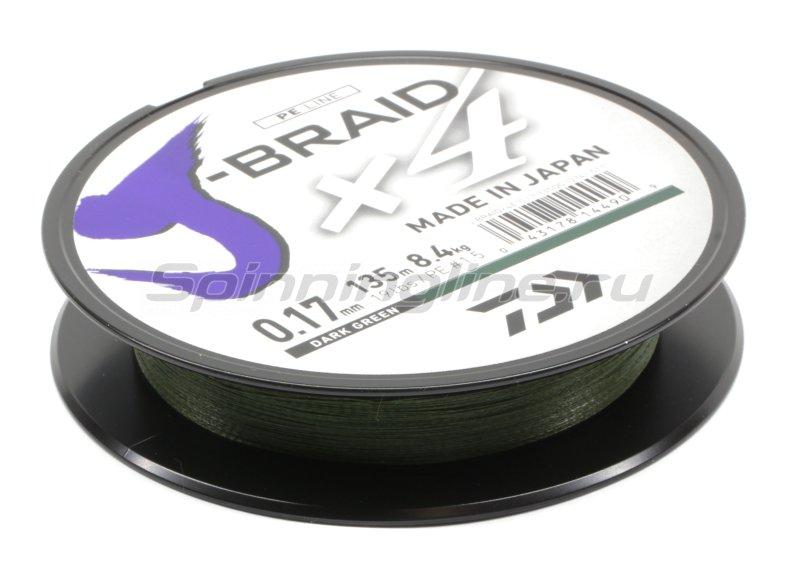 Шнур Daiwa J-Braid X4 135м 0,07мм green -  2