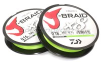 J-Braid X8 300м 0,18мм fluo yellow