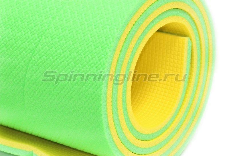 Коврик туристический Optima Light 16 желтый/зеленый -  1