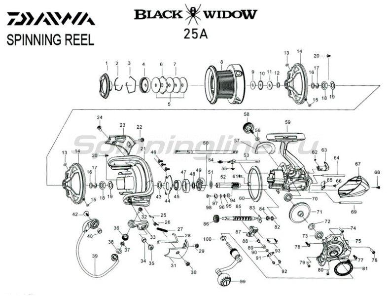 Катушка Black Widow 25A -  7