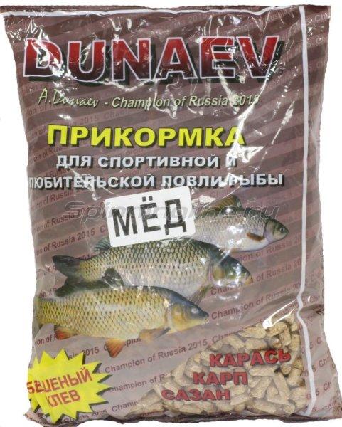 Прикормка Dunaev 0.9кг Карп Мед в гранулах -  1