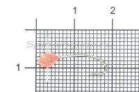 Полимер шар 5 отверстий 383 УФ лосось