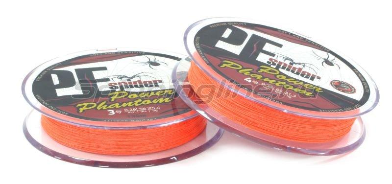 Шнур PE Spider x8 135м 0,13мм orange -  2