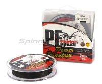 Шнур PE Spider x8 135м 0,2мм dark grey
