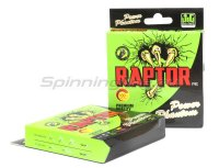 Шнур PE Raptor 135м 0,1мм green fluo