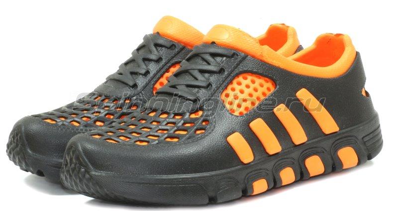 Кроссовки WoodLine ЭВА 110 40-41 черно-оранжевые - фотография 1