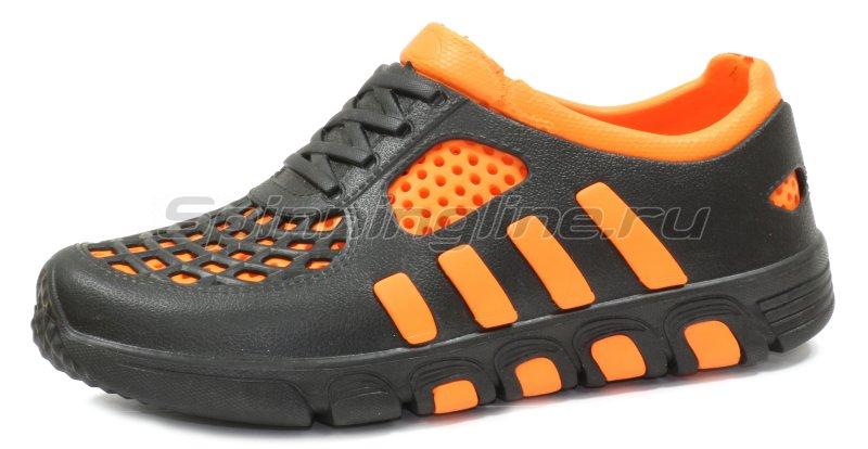 Кроссовки WoodLine ЭВА 110 40-41 черно-оранжевые - фотография 2